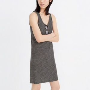 NWT Madewell Striped Scoopneck Knit Dress Sz M